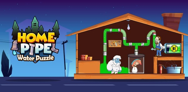 Home Pipe Water Puzzle Logo