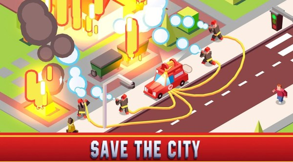 Idle Firefighter Empire Tycoon Mod Screen 1