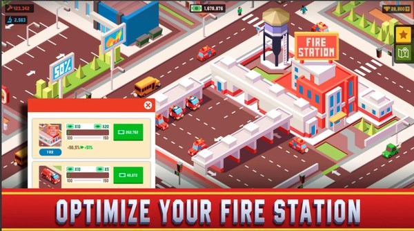 Idle Firefighter Empire Tycoon Mod Screen 3
