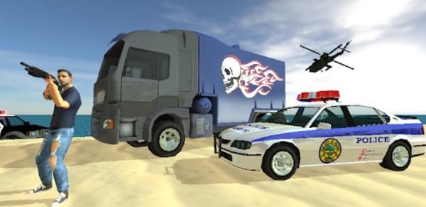 Truck Driver City Crush Logo