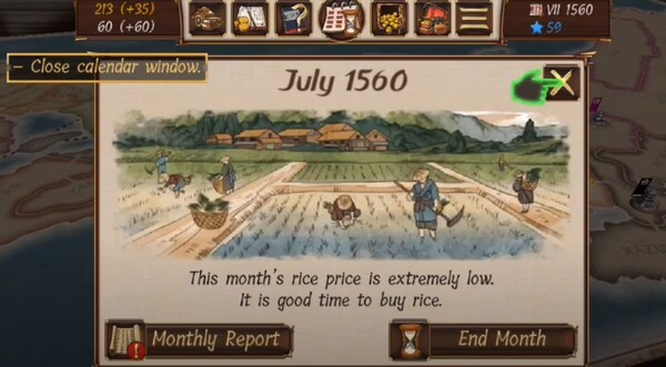 Shogun's Empire Hex Commander Screen 2