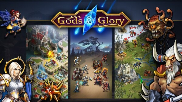 Gods and Glory War for the Throne Logo